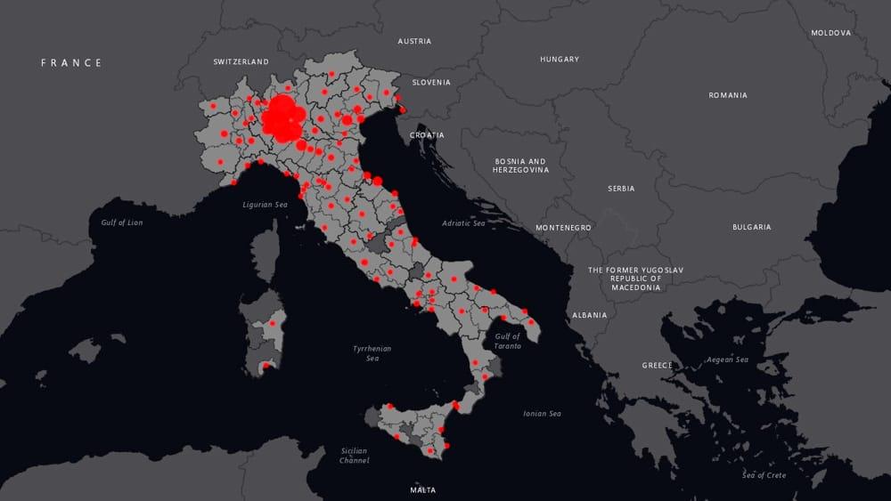 Cartina It.Coronavirus In Italia La Mappa Aggiornata In Tempo Reale