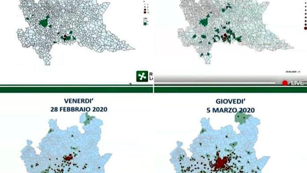 Cartina Lombardia Con Citta.Coronavirus Impressionante La Mappa Del Contagio In Lombardia